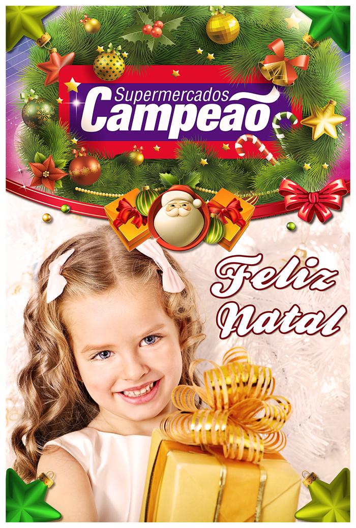 Cartaz Natal 60x90cm – Supermercado Campeão