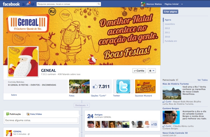 Facebook/ Twitter Natal 2012 (Geneal – Cachorro Quente)
