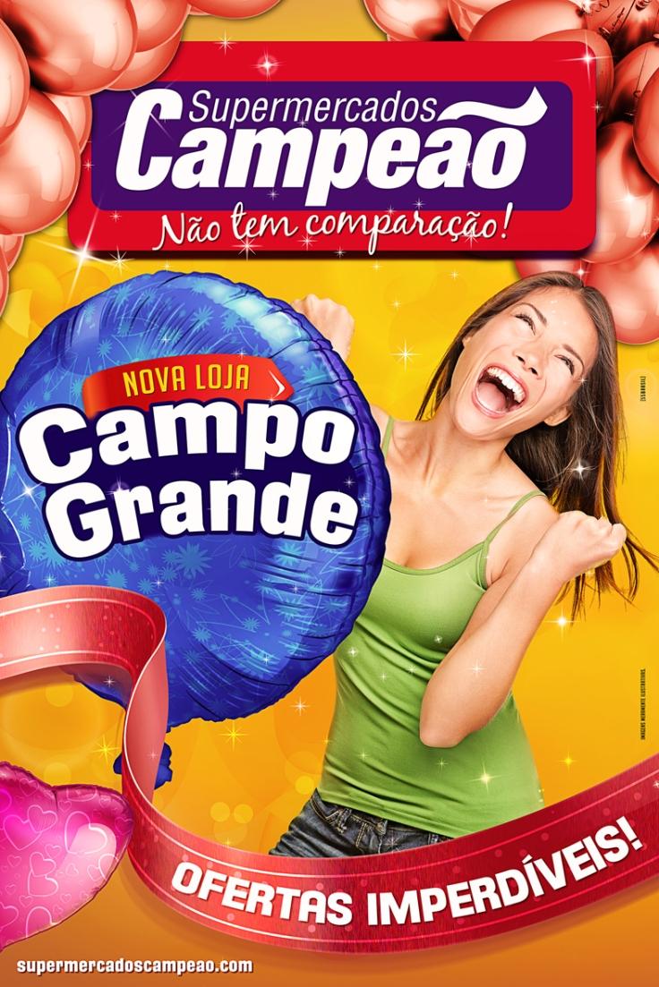 Cartaz Campo Grande 60x90cm – Supermercado Campeão
