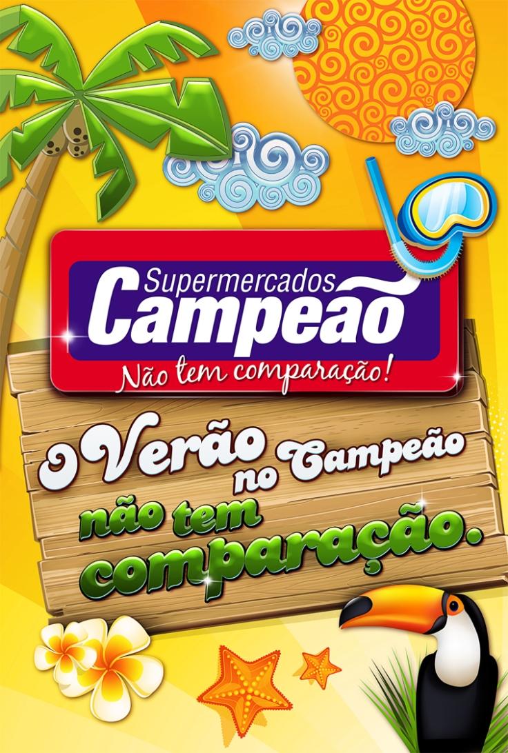 Cartaz Verão 60x90cm – Supermercado Campeão