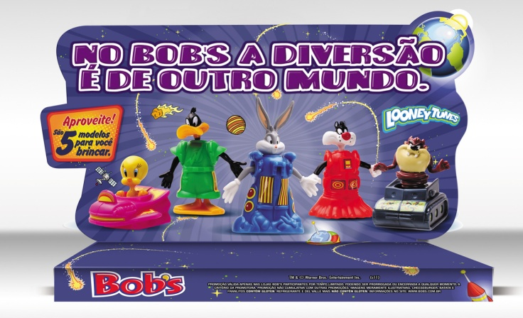 Bob's (Display de balcão Looney Tunes – 60x24cm) *Fotos Still Brindes