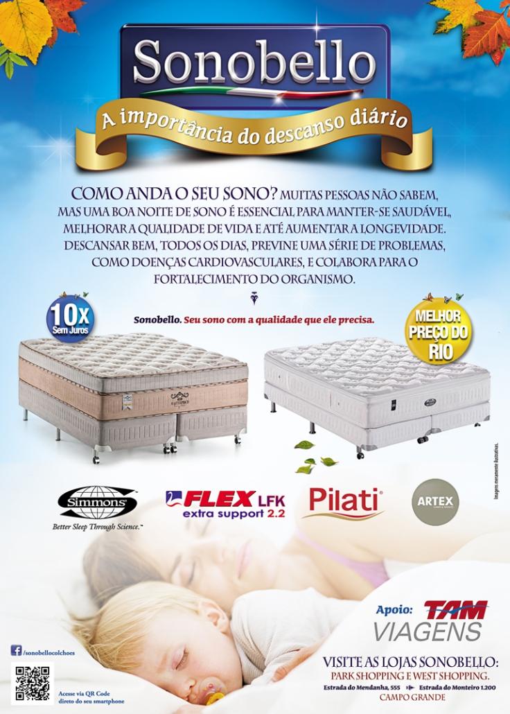 Folheto 15x21cm – Sonobello Colchões e Acessórios
