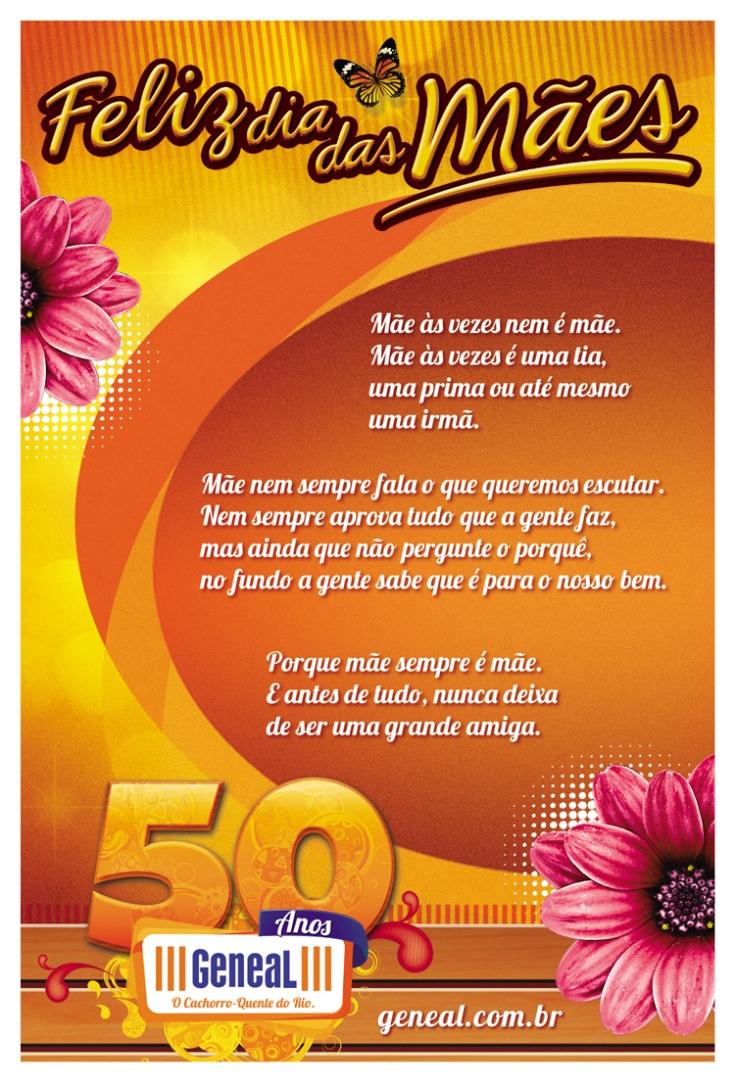 Folheto Frente 10x15cm Dia das Mães (Geneal – Cachorro Quente)