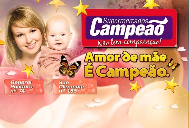 Encarte de produtos Dia das Mães – Supermercado Campeão