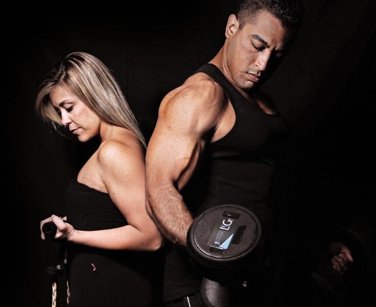 Modelos Luiz Gilla e Marselha Dionysio – Treino