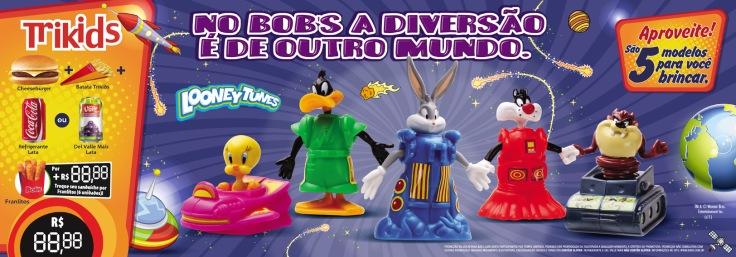 Bob's (Testeira Looney Tunes – 70x22cm) *Fotos Still Brindes